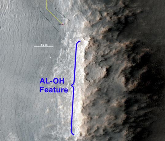 HiRISE view of the escarpment