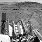 Windjana in the rear view, Curiosity sol 630