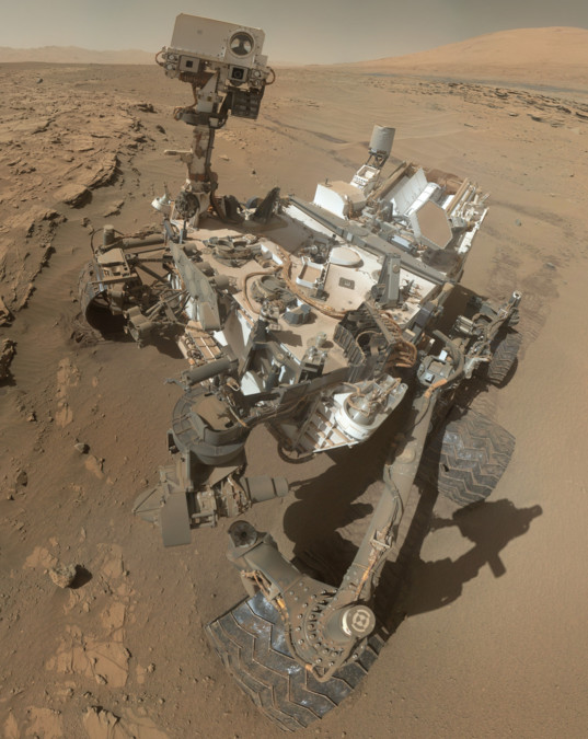 Curiosity MAHLI self-portrait at the Kimberley, sol 613