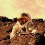 An Astronaut on Mars