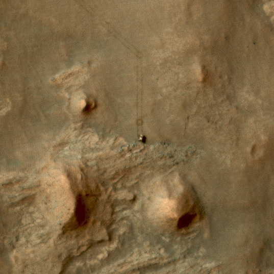 Curiosity at the Kimberley, sol 581 (detail)