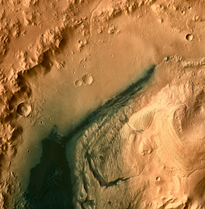 Base map for Curiosity traverse within Gale Crater: CTX colorized with HRSC, 10 m/pixel