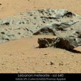 Lebanon meteorite, Curiosity sol 640