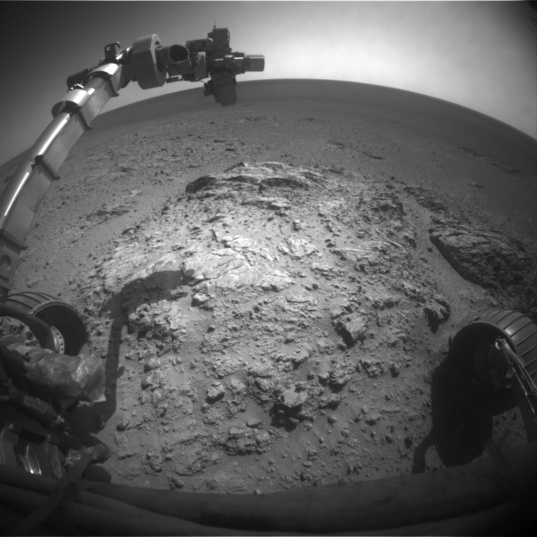 Opportunity front Hazcam view, sol 3705