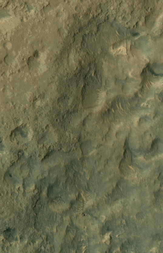 Curiosity from HiRISE on June 27, 2014