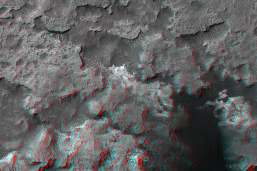 3D view of Hidden Valley and surrounding area, Curiosity landing site