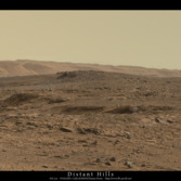 Distant hills, a Curiosity postcard from sol 720