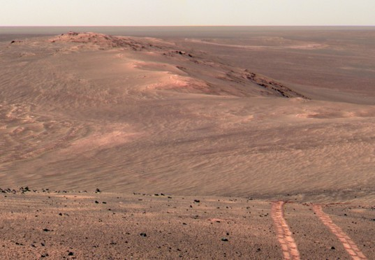 Opportunity Pancam Mosaic looking north from Wdowiak Ridge