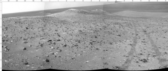 Navcam view northward from Wdowiak Ridge