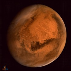 Mars Orbiter Mission's first global image of Mars