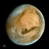 Mars Orbiter Mission's first global image of Mars (processed)