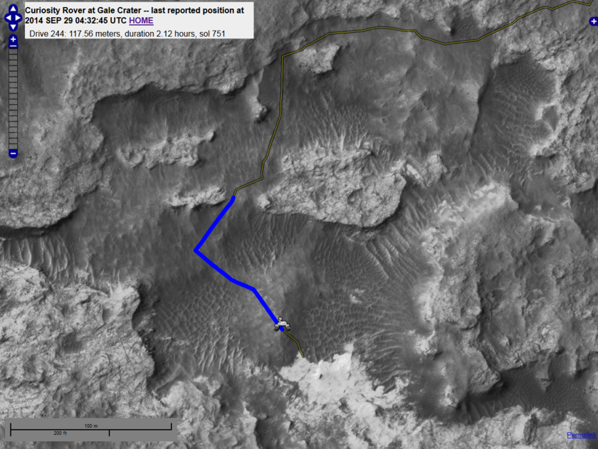 Curiosity's sol 751 drive