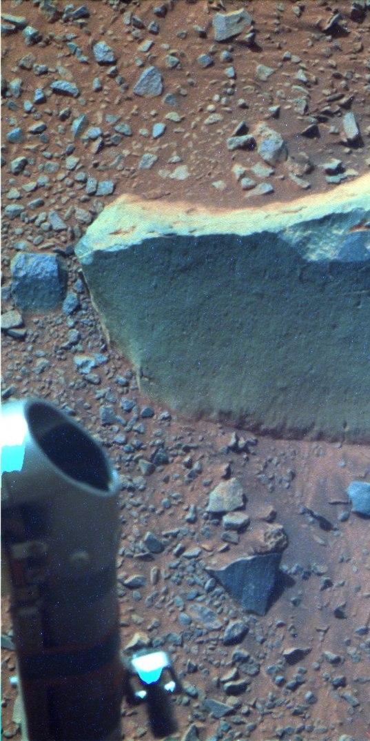 Pancam view of target rock