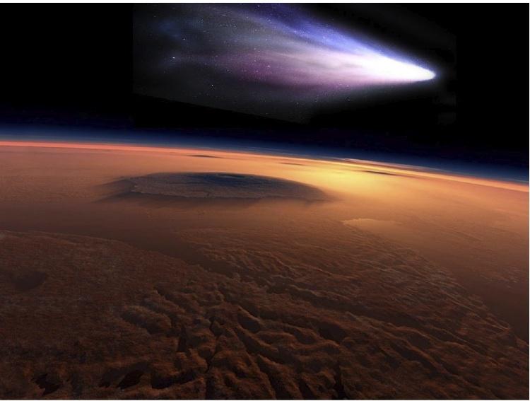 Comet Siding Spring encounters Mars