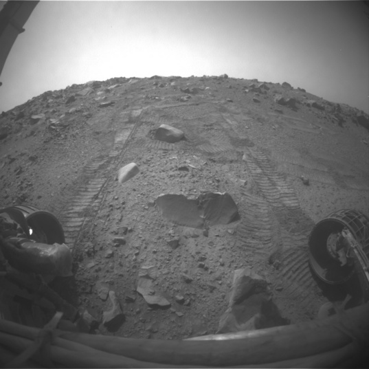 Opportunity's target rock as of sol 3808