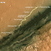 Curiosity route map: Wide view (updated to sol 813)