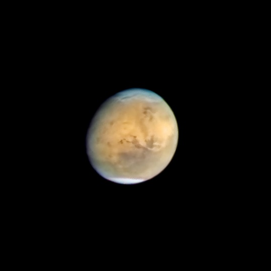 Hubble's view of Mars during the Comet Siding Spring flyby