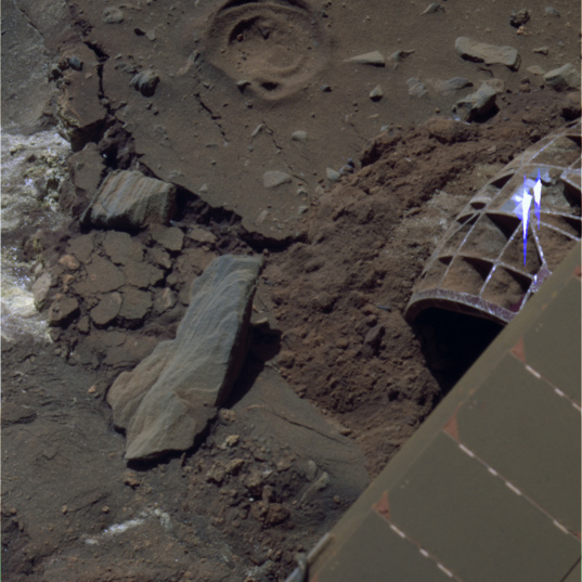 Spirit's last color photo, sol 2191