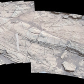 Chinle outcrop, Pahrump Hills, Curiosity sol 826 and 828