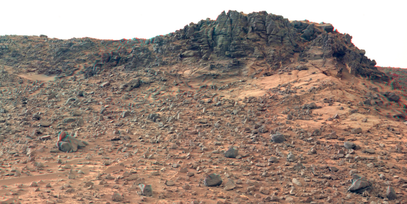 Salsberry Peak in 3D, sol 844