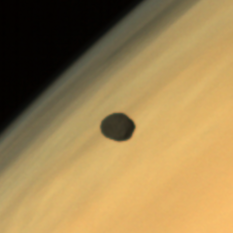 Phobos over Mars, from Mars Orbiter Mission