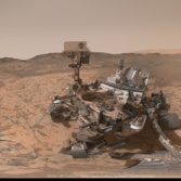 Curiosity self-portrait at Pahrump Hills, sol 868-884