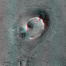 Mound in Chryse Planitia, Mars (3D)