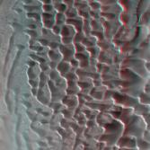Dunes in Nili Patera, Mars (3D)