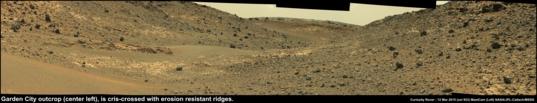 Artist's Drive and Garden City, Curiosity sol 923