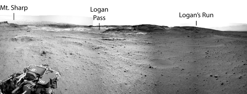The view ahead, Curiosity sol 960