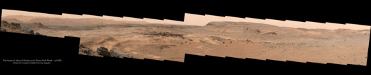 The base of Mount Sharp and Grey Wolf Peak, Curiosity sol 952