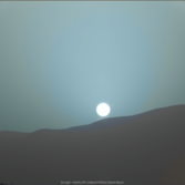 Telephoto view of sunset on Mars