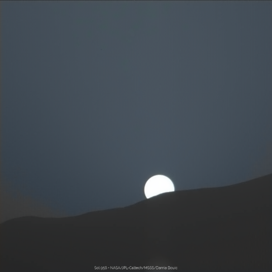 Sunset over Gale Crater