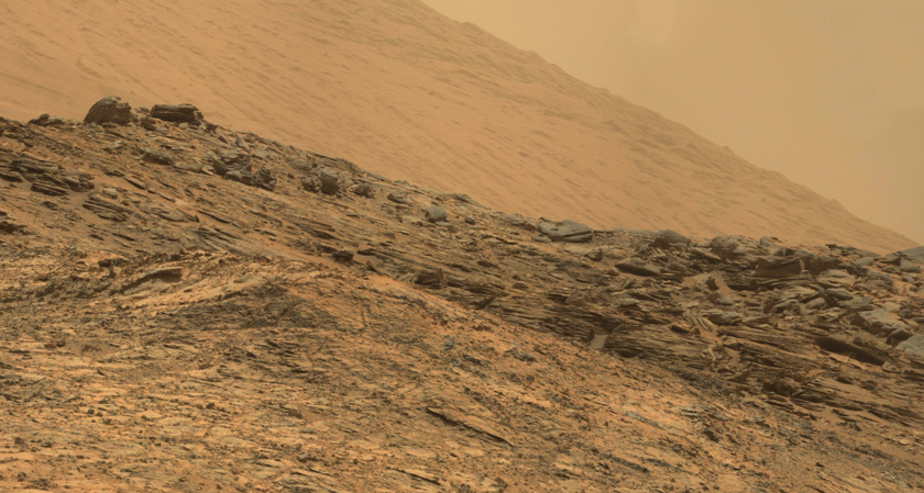 Partial Curiosity panorama, sol 968