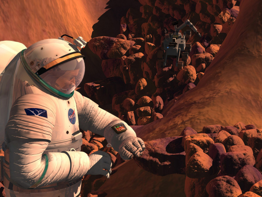 Humans at Work on Mars