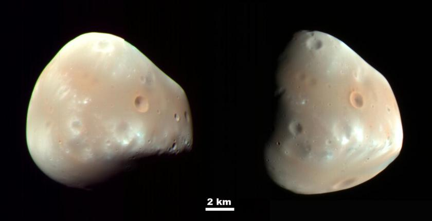 Deimos as viewed by Mars Reconnaissance Orbiter