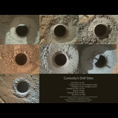 Seven Curiosity drill sites on Mars