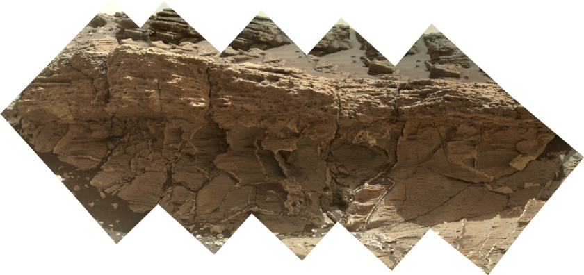 Missoula outcrop, Curiosity sol 1031