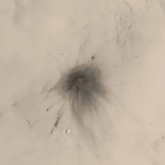 Fresh crater in Arabia Terra, Mars
