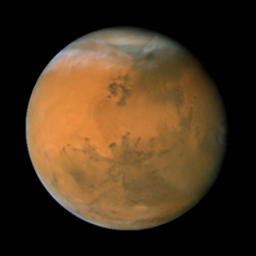 Mars during the 2007 opposition: longitude 50°