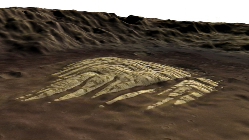 White Rock from Mars Express: 3D flyover