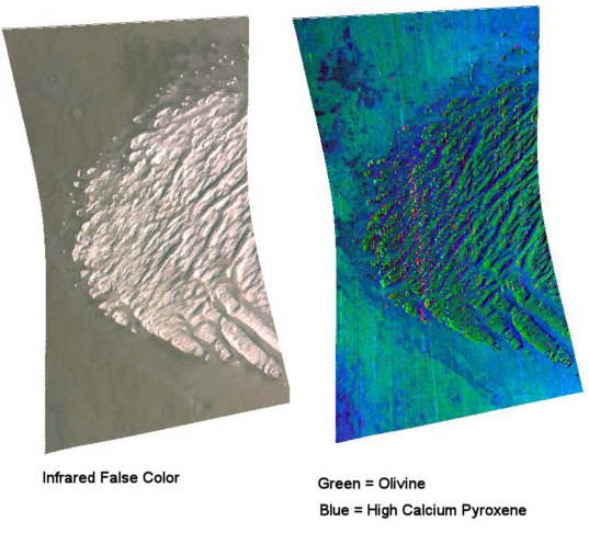 White Rock from Mars Reconnaissance Orbiter CRISM