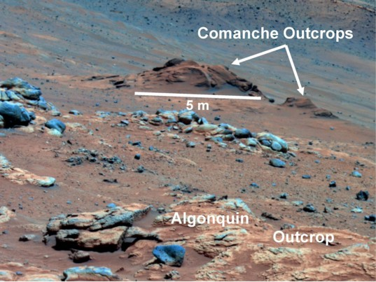 Comanche outcrop as seen by Spirit