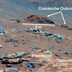 Comanche outcrop as seen by Spirit