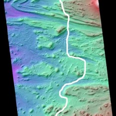 Flight path for Mars3d Candor Chasma animation