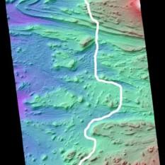 Flight path for Mars3d Candor Chasma animation