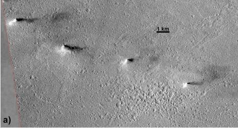 Dust devils in Amazonis Planitia