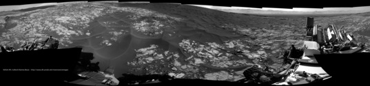 Navcam panorama, Curiosity sol 1174: High Dune