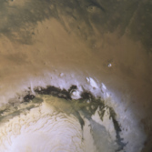 Looking over Mars' north pole