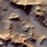 Frost in the Hellespontus Montes, Mars